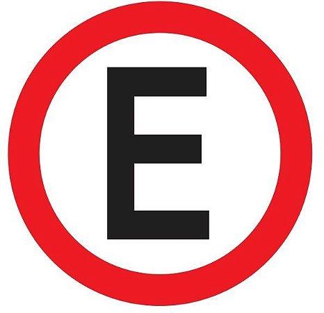Placa Refletiva - Estacionamento Regulamentado