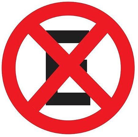 Placa Refletiva - R-6c - Proibido Parar ou Estacionar