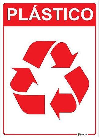 Placa Material Reciclável - Plástico