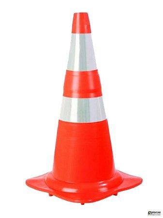 Cone Flexível Refletivo de Sinalização Laranja 75cm