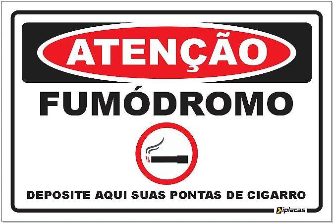 Placa - Atenção - Fumódromo