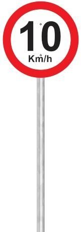 """Suporte em Tubo de Aço Galvanizado 2"""" x 3m com abraçadeiras (Não inclui a placa)"""