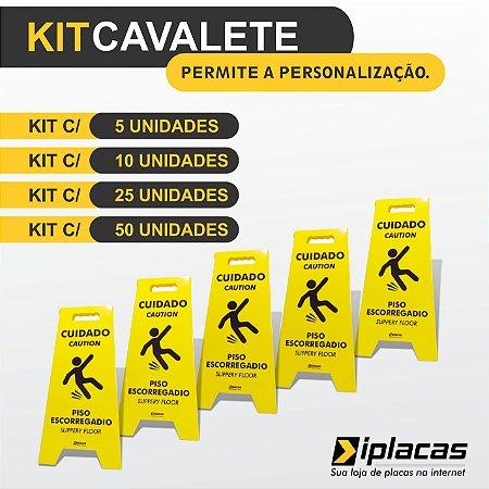 Kit Cavalete em PS - Piso Escorregadio