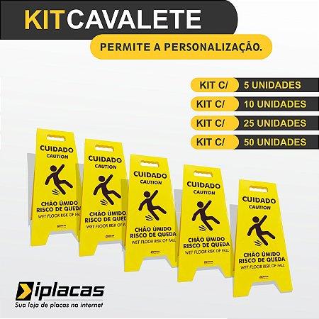 Kit Cavalete em PS - Chão Úmido Risco de Queda