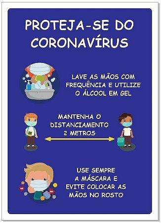 Placa - Proteja-se do Corona Vírus