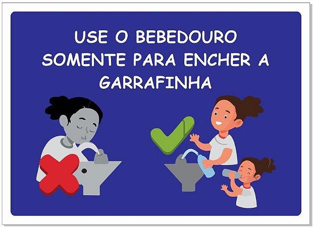Placa - Uso Consciente do Bebedouro