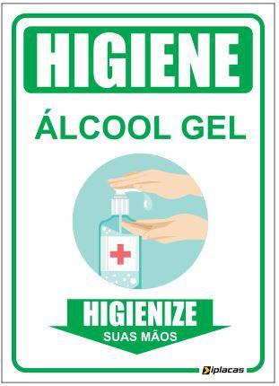 Placa - higienize Suas mãos