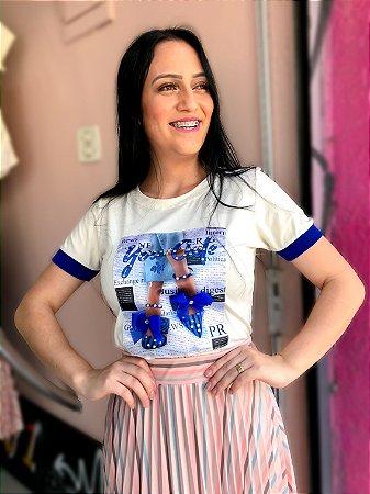 Tshirt Luxo Azul