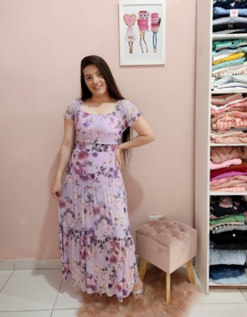 Vestido Longo Lisie Lavanda