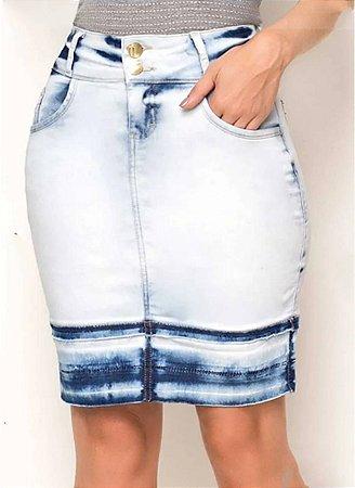 Saia Jeans Tie Dye Laura Rosa
