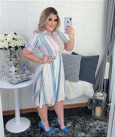 Vestido Cintia Azul