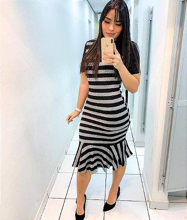 Vestido Sino Listrado