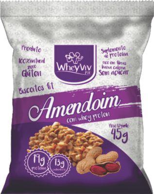 BISCOITO FIT DE AMENDOIN COM WHEY WHEYVIV FIT 45G