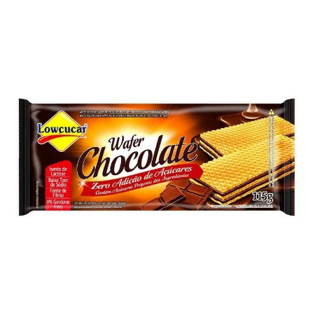 BISC LOWCUCAR WAFER ZERO ACUCAR CHOCOLATE 115G