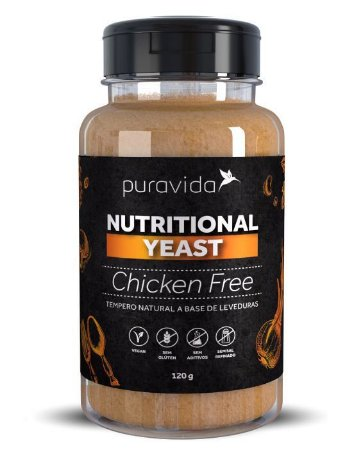 NUTRTIONAL YEAST CHICKEN FREE PURA VIDA 120G