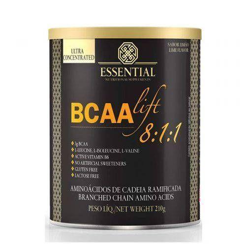 BCAA LIFT ESSENTIAL NUTRITION LIMAO LATA 210G