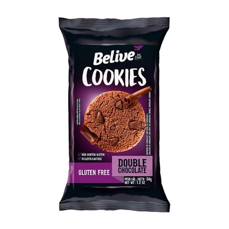 COOKIES BELIVE DOUBLE CHOCOLATE 34G