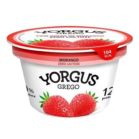 IOGURTE MORANGO ZERO LACTOSE 0 YORGUS GREGO 130G