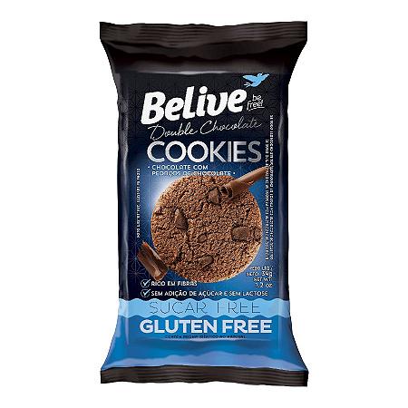 COOKIES ZERO ACUCAR DOUBLE CHOCOLATE BELIVE 34G