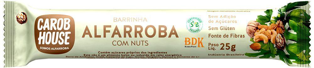 ALFARROBA COM NUTS CAROB HOUSE 25G