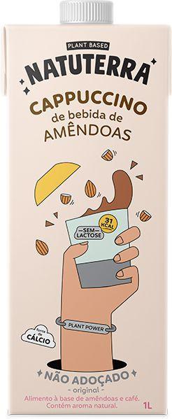 CAPPUCCINO C BEBIDA DE AMENDOAS NAO ADOCADO 1L
