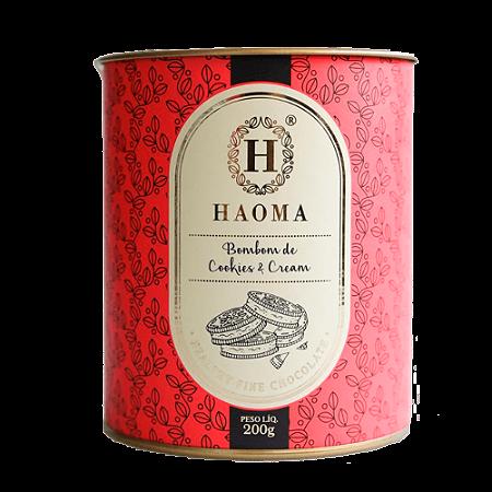BOMBOM CHOCOLATE BELGA COOKIES CREAM 200G HAOMA
