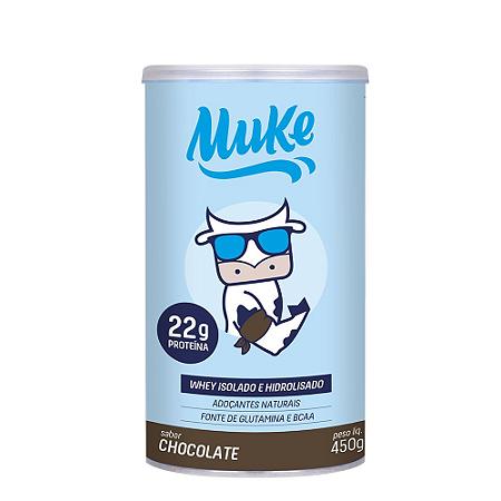 Whey Isolado e Hidrolizado Chocolate Muke +Mu 450g