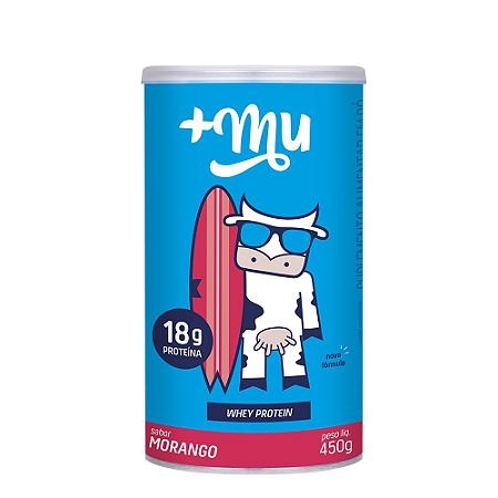 WHEY +MU MORANGO (CONCENTRADO) - POTE 450G  +MU PROTEÍNA
