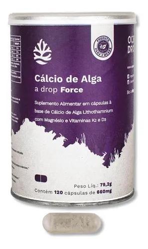 Ocean Drop Cálcio De Algas 120 Capsulas 700mg