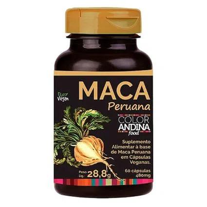 Maca peruana 60 cápsulas - color andina food