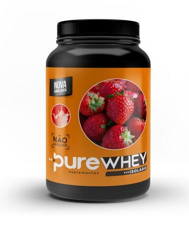 Whey Protein Isolado Morango Pure 1kg