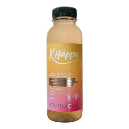 Kombucha Joy Boost tangerina cenoura beterraba Khappy 355ml