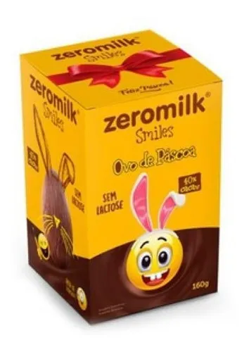 Ovo de pascoa Smile 40% zero milk 160g
