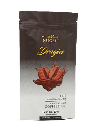 Dragees Café com chocolate ao leite Nugali 100g