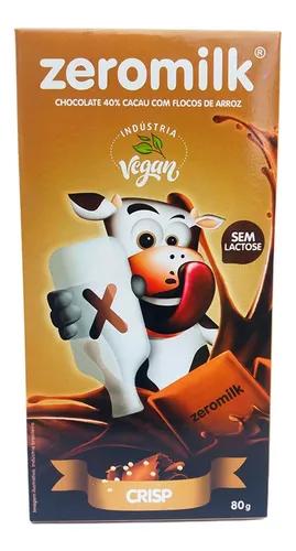 Chocolate 40% cacau com flocos de arroz ZERO MILK 80g