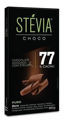 Chocolate 77% cacau STEVIA CHOCO 80g