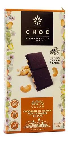 Chocolate com castanha de caju 60% CHOC 80g