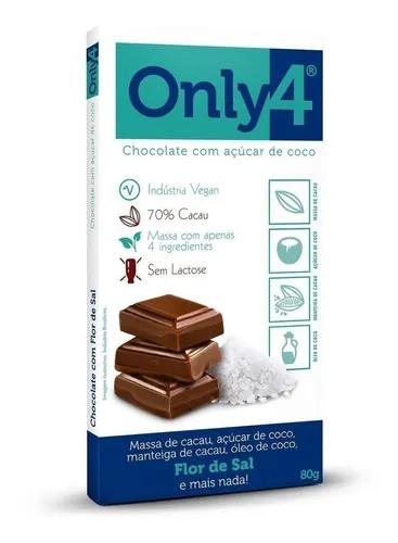 Chocolate 70% com flor de sal ONLY4 80g