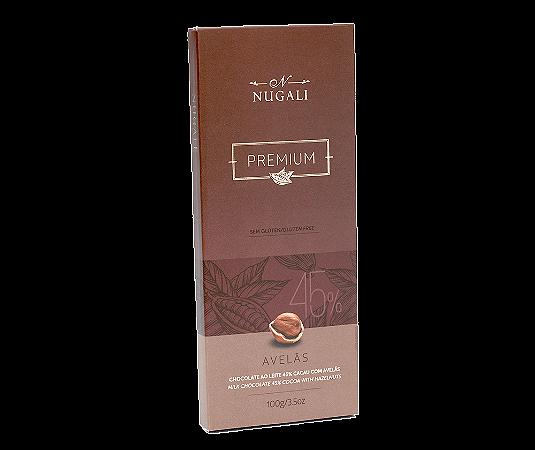 Chocolate ao leite 45% com Avelãs Nugali  100g