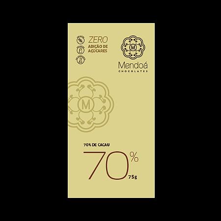 Chocolate 70% cacau diet Mendoá  75g