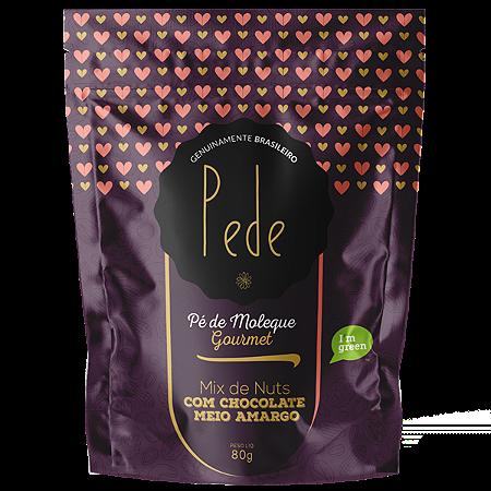 Mix de Nuts com chocolate amargo PEDE 80g