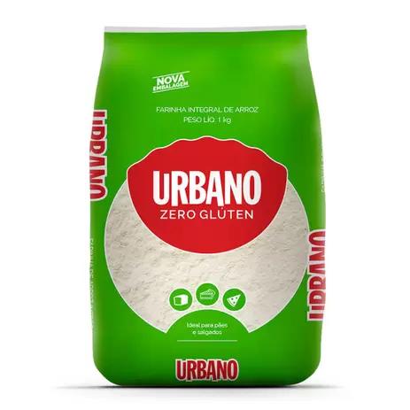 Farinha de arroz integral sem gluten Urbano 1kg
