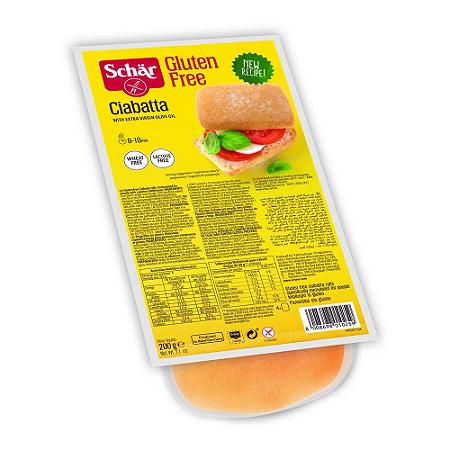 Pão Ciabatta sem gluten Schar 200g