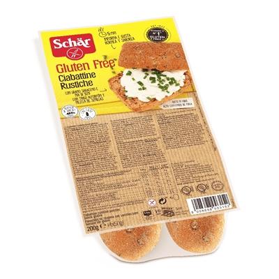 Pão Ciabatta rustico sem gluten Schar 200g