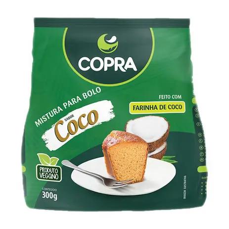 Mistura para bolo sabor coco sem gluten Copra 300g