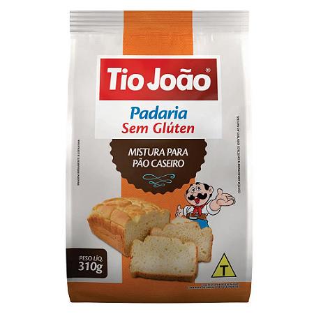 Mistura para pao caseiro sem gluten Tio João 310g