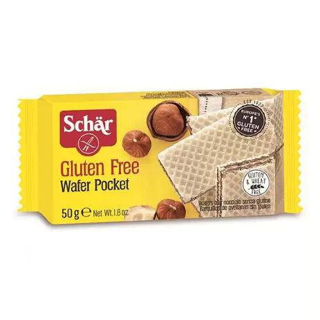 Wafer pocket gluten Schar 50g