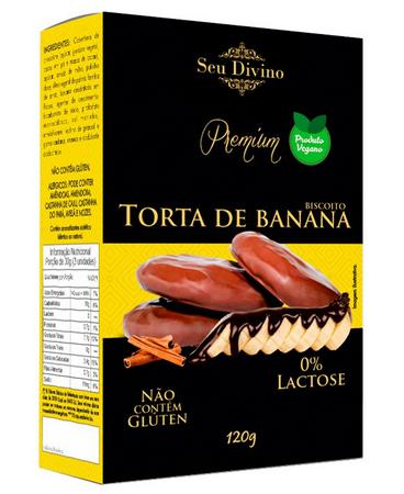 BISCOITO TORTA DE BANANA SEU DIVINO 120G