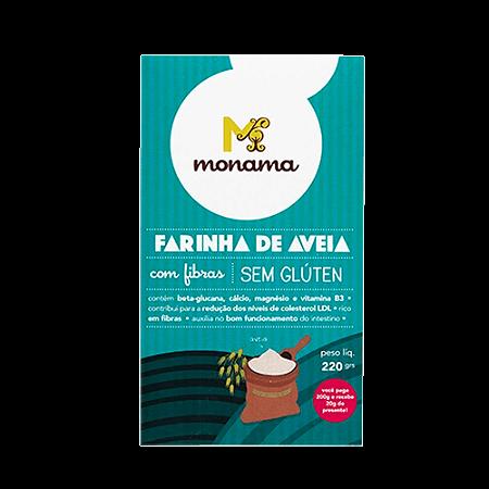Farinha de aveia sem gluten Monama 220g