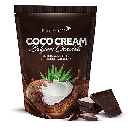 Leite de coco em po sabor chocolate belga Pura Vida 250g